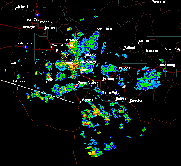 Radar Image for Severe Thunderstorms near Marana, AZ at 7/10/2018 2:32 PM MST