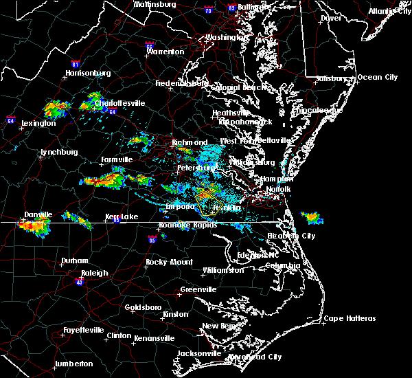 Radar Image for Severe Thunderstorms near Carrsville, VA at 7/11/2018 6:27 PM EDT