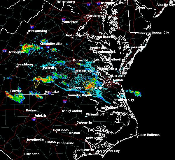Radar Image for Severe Thunderstorms near Carrsville, VA at 7/11/2018 6:55 PM EDT