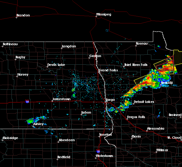 Radar Image for Severe Thunderstorms near Redby, MN at 7/11/2018 9:47 PM CDT