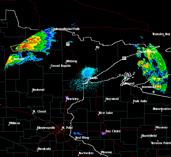 Radar Image for Severe Thunderstorms near Northome, MN at 7/11/2018 10:23 PM CDT