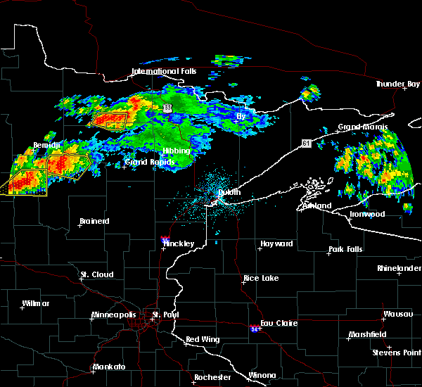 Radar Image for Severe Thunderstorms near Cass Lake, MN at 7/11/2018 11:52 PM CDT