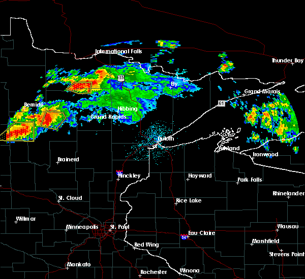 Radar Image for Severe Thunderstorms near Boy River, MN at 7/12/2018 12:00 AM CDT