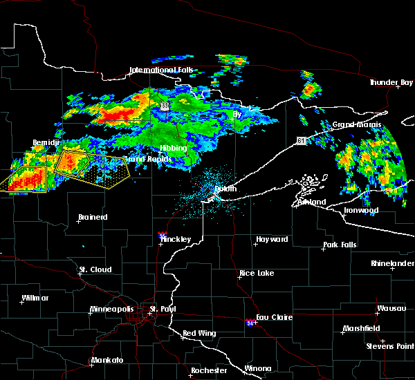 Radar Image for Severe Thunderstorms near Grand Rapids, MN at 7/12/2018 12:03 AM CDT