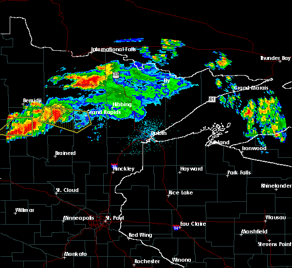 Radar Image for Severe Thunderstorms near Grand Rapids, MN at 7/12/2018 12:15 AM CDT