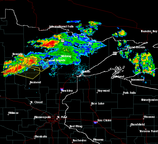 Radar Image for Severe Thunderstorms near Pequot Lakes, MN at 7/12/2018 12:21 AM CDT
