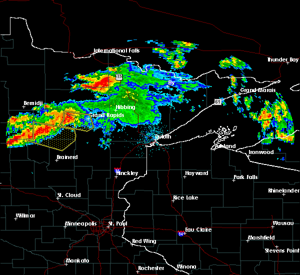 Radar Image for Severe Thunderstorms near Fifty Lakes, MN at 7/12/2018 12:36 AM CDT
