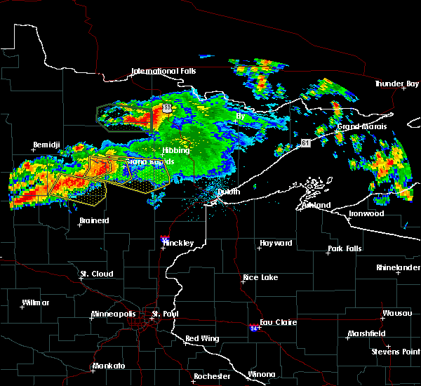 Radar Image for Severe Thunderstorms near Cohasset, MN at 7/12/2018 12:46 AM CDT