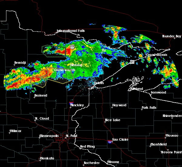 Radar Image for Severe Thunderstorms near Fifty Lakes, MN at 7/12/2018 12:51 AM CDT