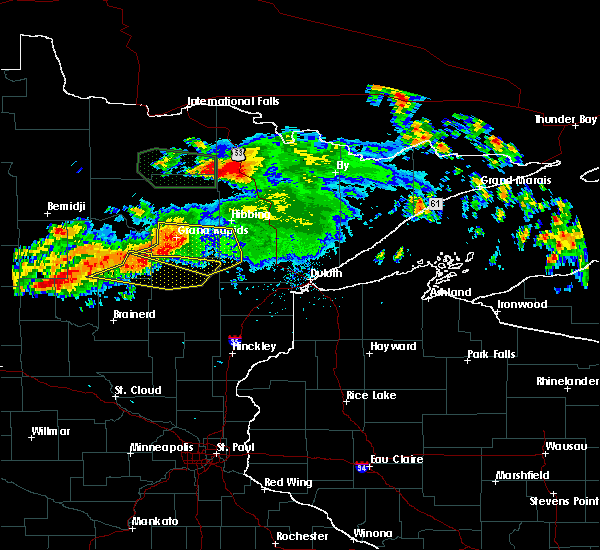 Radar Image for Severe Thunderstorms near Cohasset, MN at 7/12/2018 1:07 AM CDT