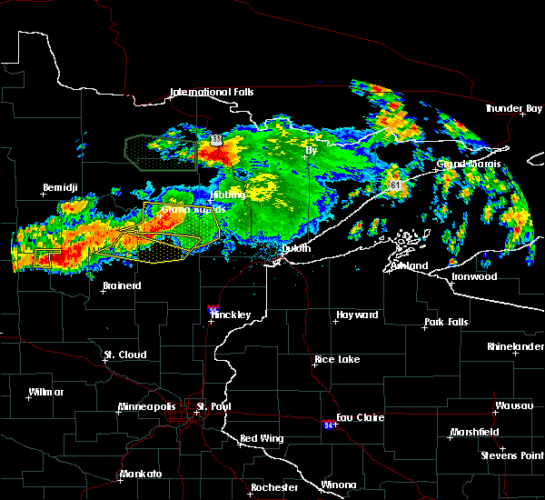Radar Image for Severe Thunderstorms near Pequot Lakes, MN at 7/12/2018 1:19 AM CDT