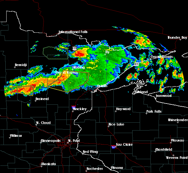 Radar Image for Severe Thunderstorms near Pequot Lakes, MN at 7/12/2018 1:37 AM CDT