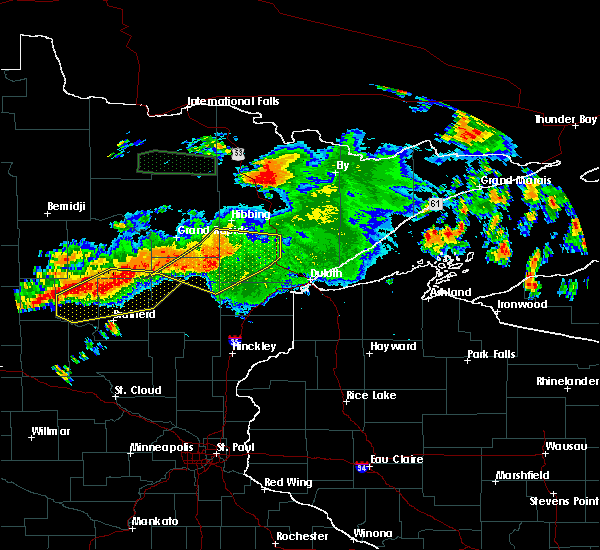 Radar Image for Severe Thunderstorms near Pequot Lakes, MN at 7/12/2018 1:59 AM CDT