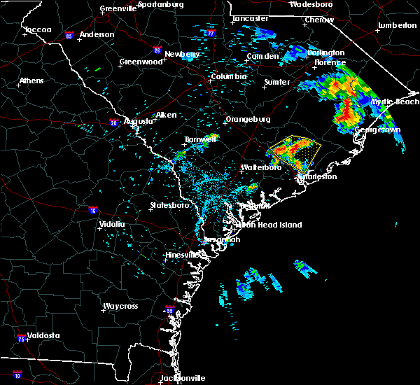 Radar Image for Severe Thunderstorms near North Charleston, SC at 7/12/2018 6:53 PM EDT