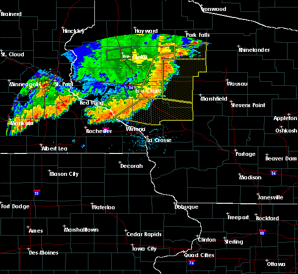 Radar Image for Severe Thunderstorms near Withee, WI at 7/12/2018 8:05 PM CDT