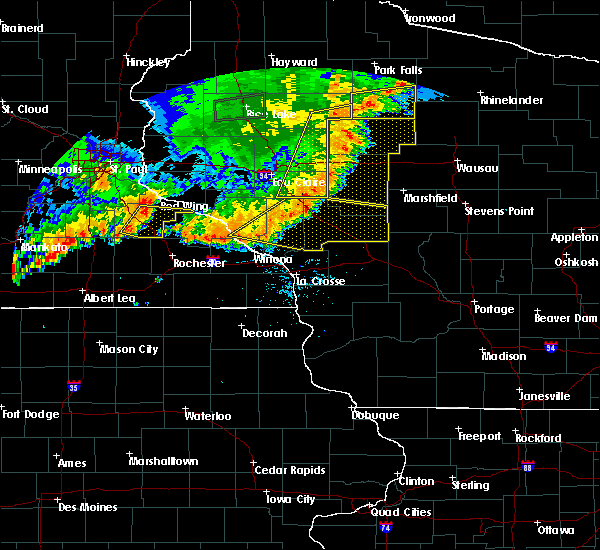 Radar Image for Severe Thunderstorms near Strum, WI at 7/12/2018 8:15 PM CDT