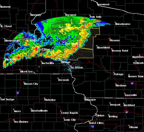 Radar Image for Severe Thunderstorms near Arcadia, WI at 7/12/2018 8:24 PM CDT