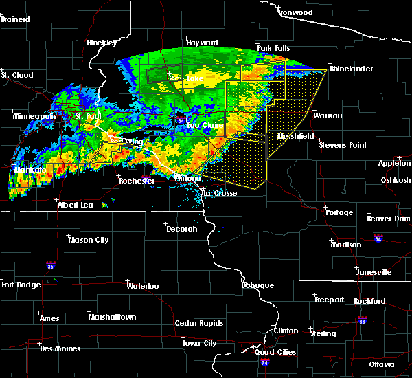 Radar Image for Severe Thunderstorms near Cataract, WI at 7/12/2018 8:36 PM CDT