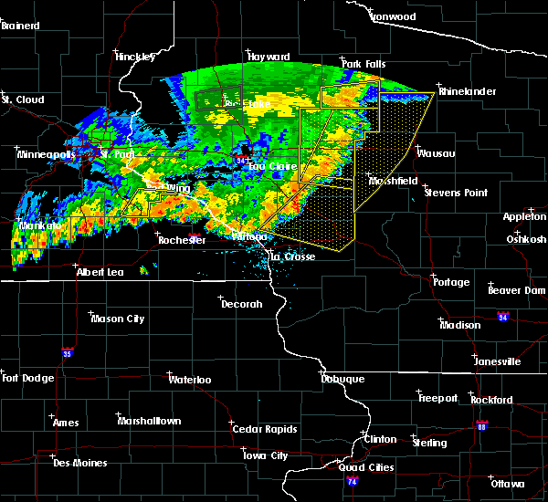 Radar Image for Severe Thunderstorms near Unity, WI at 7/12/2018 8:42 PM CDT
