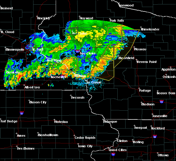 Radar Image for Severe Thunderstorms near Cataract, WI at 7/12/2018 9:04 PM CDT