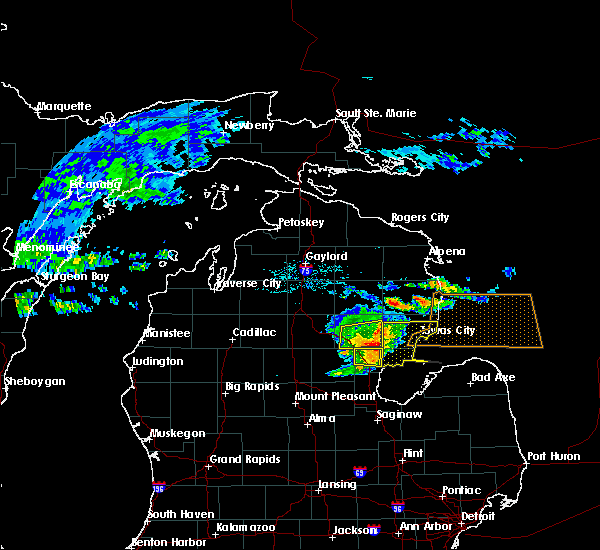 Radar Image for Severe Thunderstorms near Au Sable, MI at 7/13/2018 5:20 PM EDT