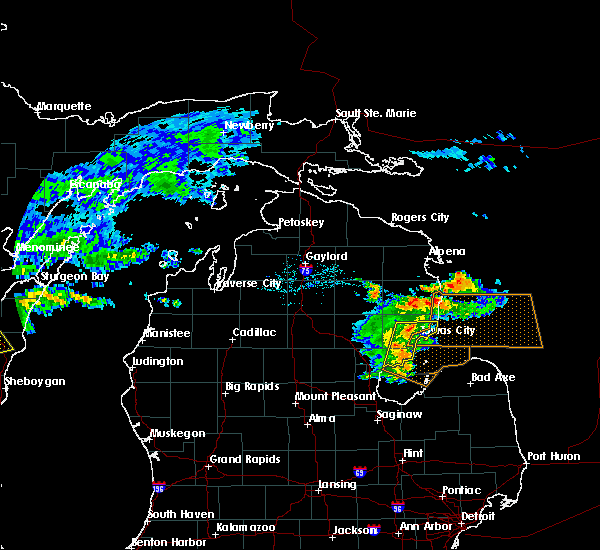 Radar Image for Severe Thunderstorms near Au Sable, MI at 7/13/2018 5:41 PM EDT