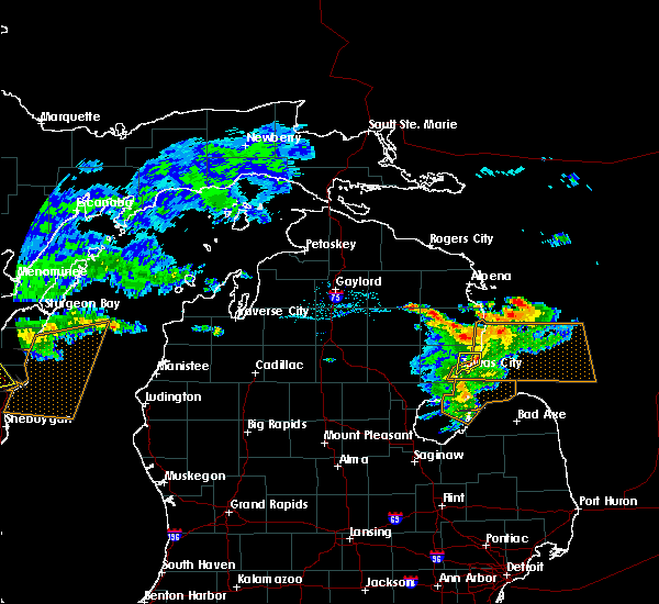 Radar Image for Severe Thunderstorms near Au Sable, MI at 7/13/2018 5:56 PM EDT