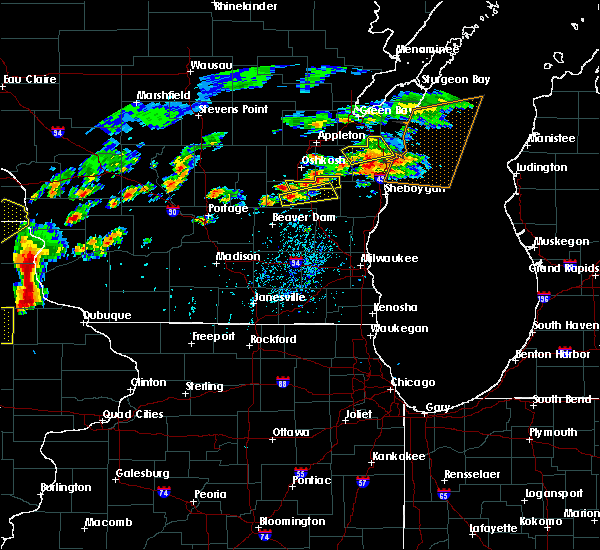 Radar Image for Severe Thunderstorms near Waupun, WI at 7/13/2018 5:03 PM CDT