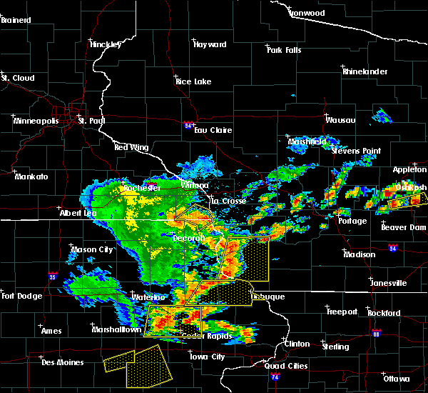 Radar Image for Severe Thunderstorms near Eastman, WI at 7/13/2018 5:34 PM CDT
