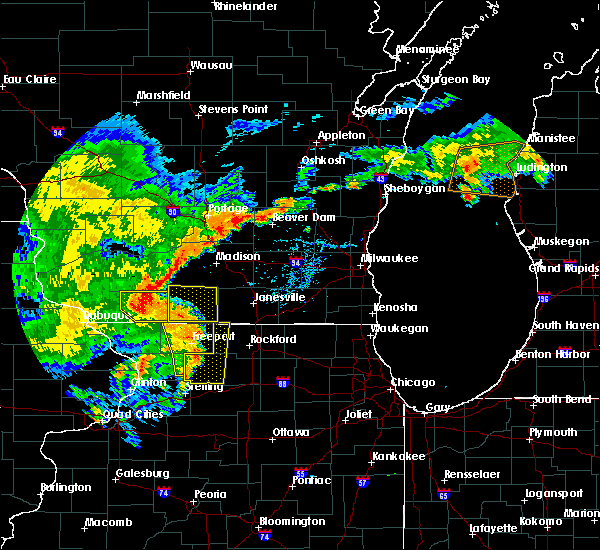 Radar Image for Severe Thunderstorms near Browntown, WI at 7/13/2018 7:28 PM CDT