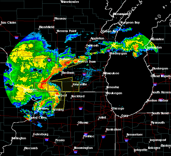 Radar Image for Severe Thunderstorms near German Valley, IL at 7/13/2018 7:34 PM CDT