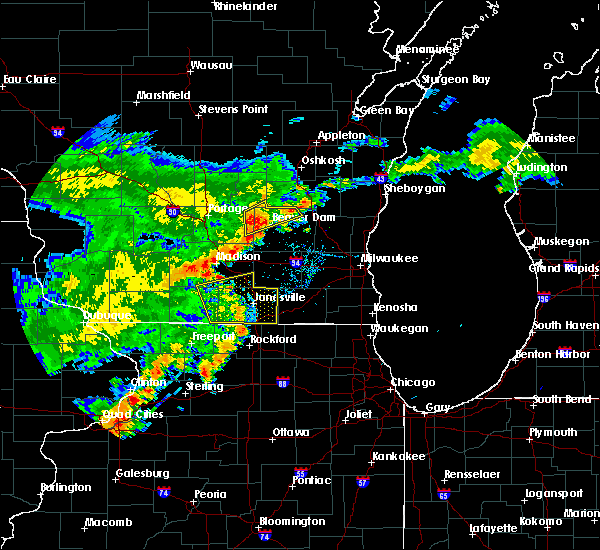 Radar Image for Severe Thunderstorms near Stoughton, WI at 7/13/2018 8:02 PM CDT