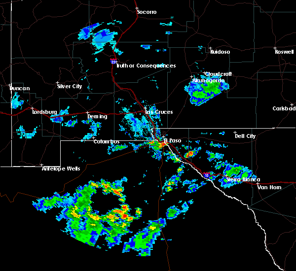 Radar Image for Severe Thunderstorms near Horizon City, TX at 7/13/2018 7:08 PM MDT