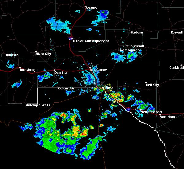 Radar Image for Severe Thunderstorms near Horizon City, TX at 7/13/2018 7:35 PM MDT