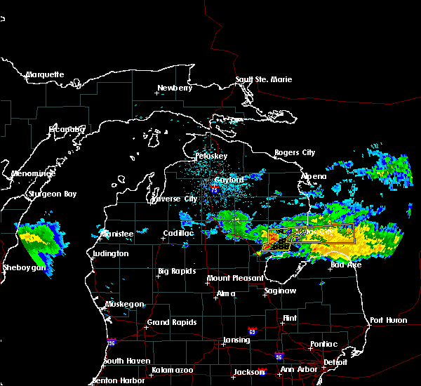 Radar Image for Severe Thunderstorms near Au Sable, MI at 7/13/2018 11:09 PM EDT