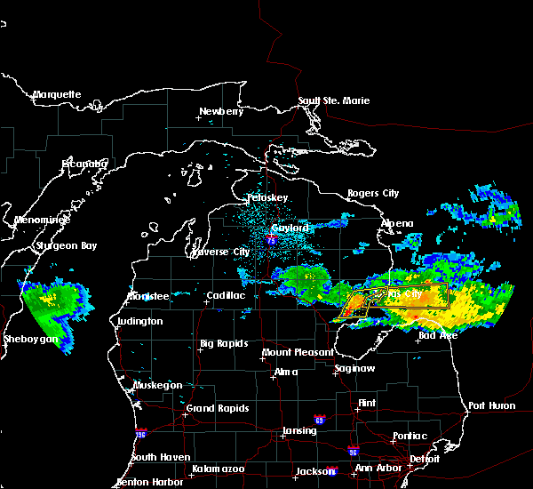 Radar Image for Severe Thunderstorms near Au Sable, MI at 7/13/2018 11:18 PM EDT