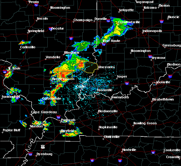 Radar Image for Severe Thunderstorms near Russellville, IL at 7/14/2018 3:27 PM CDT
