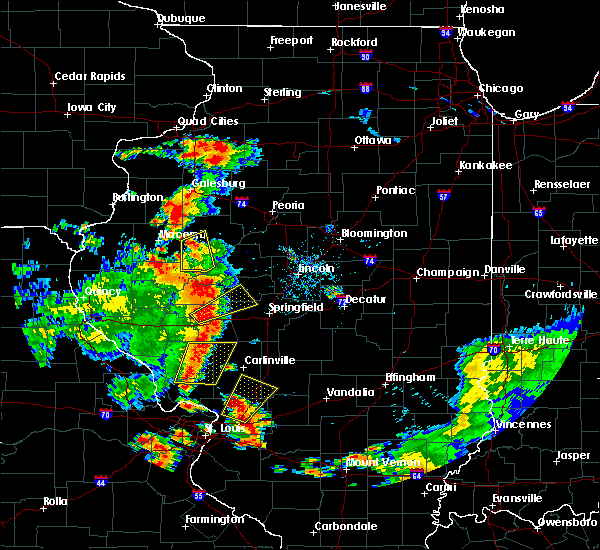 Radar Image for Severe Thunderstorms near Rochester, IL at 7/14/2018 4:44 PM CDT