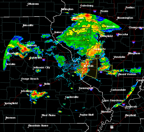 Radar Image for Severe Thunderstorms near Lebanon, IL at 7/14/2018 5:48 PM CDT