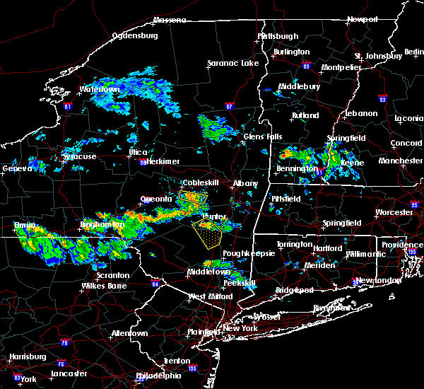 Radar Image for Severe Thunderstorms near Kingston, NY at 7/14/2018 7:00 PM EDT