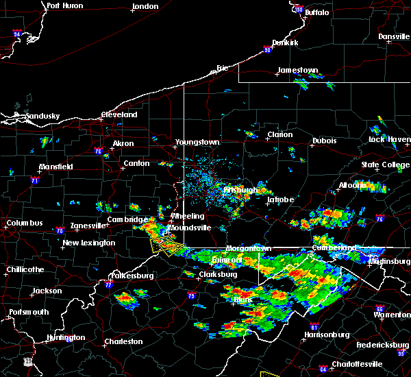 Radar Image for Severe Thunderstorms near Hannibal, OH at 7/15/2018 4:14 PM EDT
