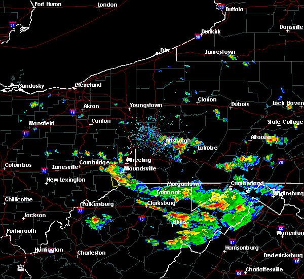 Radar Image for Severe Thunderstorms near Hannibal, OH at 7/15/2018 4:29 PM EDT