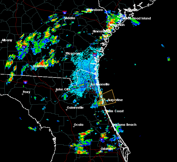 Radar Image for Severe Thunderstorms near St. Augustine South, FL at 7/16/2018 4:09 PM EDT