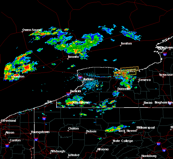 Radar Image for Severe Thunderstorms near Sodus, NY at 7/16/2018 4:56 PM EDT