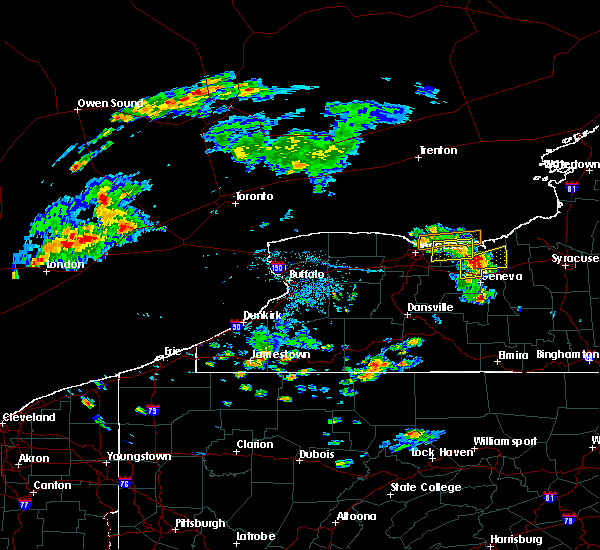 Radar Image for Severe Thunderstorms near Sodus, NY at 7/16/2018 5:29 PM EDT