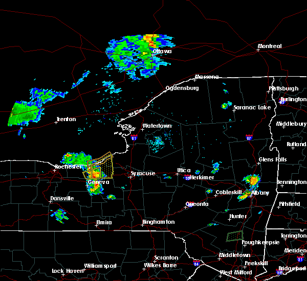 Radar Image for Severe Thunderstorms near Meridian, NY at 7/16/2018 6:01 PM EDT
