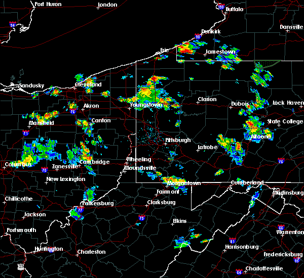 Radar Image for Severe Thunderstorms near Meadville, PA at 7/16/2018 6:50 PM EDT