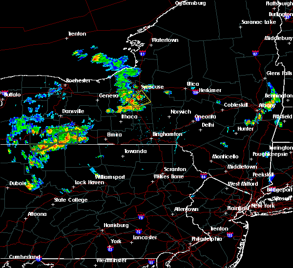 Radar Image for Severe Thunderstorms near Syracuse, NY at 7/16/2018 6:59 PM EDT