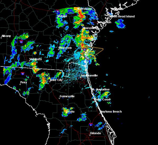 Radar Image for Severe Thunderstorms near Darien, GA at 7/16/2018 7:02 PM EDT
