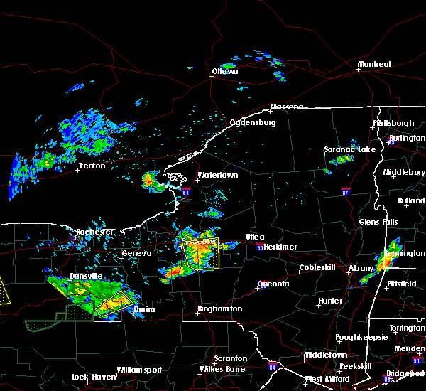 Radar Image for Severe Thunderstorms near Waterville, NY at 7/16/2018 7:46 PM EDT